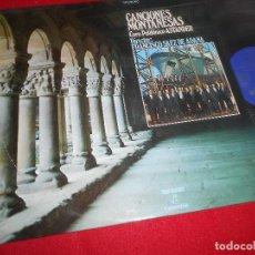 Discos de vinilo: CORO POLIFONICO ASTANDER FRANCISCO SAEZ DE ADANA CANCIONES MONTAÑESAS LP 1971 PROMO SPAIN CANTABRIA. Lote 85984708