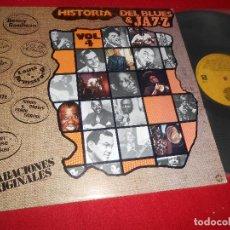 Discos de vinilo: HISTORIAS DEL BLUES & JAZZ LP 1981 DOBLON SPAIN RECOPILATORIO FRANK SINATRA + LOUIS ARMSRONG + ETC. Lote 85986448