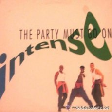 Discos de vinilo: INTENSE, THE PARTY MUST GO ON, MAXI-SINGLE MAX MUSIC SPAIN 1993. Lote 85991656