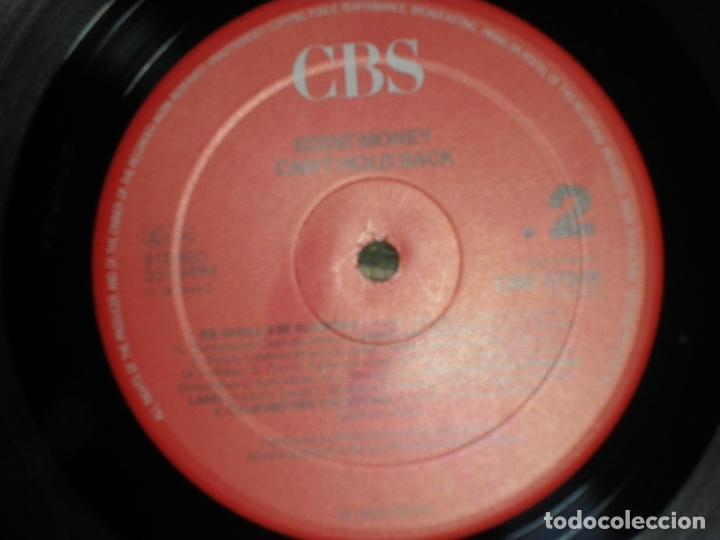 Discos de vinilo: EDDIE MONEY - CAN´T HOLD BACK LP - ORIGINAL HOLANDA - CBS 1986 CON FUNDA INT. ORIGINAL MUY NUEVO(5) - Foto 9 - 86008464