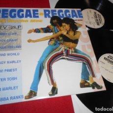 Discos de vinilo: REGGAE-REGGAE ES MUCHO MÁS 2LP 1993 EDICION ESPAÑOLA SPAIN RECOPILATORIO BOB MARLEY + EDDY GRANT. Lote 86010064