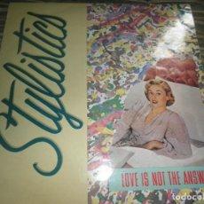 Discos de vinilo: STYLISTIC - LOVE IS NOT THE ANSWER MAXI 45 R.P.M. - ORIGINAL INGLES - VIRGIN RECORDS 1985 - MUY NUE-. Lote 86010324