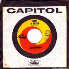 Discos de vinilo: JAN HOWARD - DIME A DOZEN + I CAN'T STOP CRYING SINGLE USA SIN PORTADA. Lote 86014524