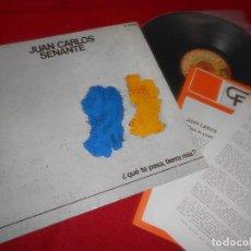 Discos de vinilo: JUAN CARLOS SENANTE ¿QUE TE PASA, TIERRA MIA? LP 1978 EXPLOSION GATEFOLD ESPAÑA SPAIN + HOJA. Lote 86016268