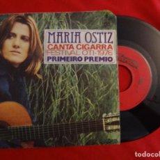 Discos de vinilo: MARIA OSTIZ CANTA CIGARRA 1976 SINGLE PORTUGAL PRESS 7 (VG++/EX-) H. Lote 86020136
