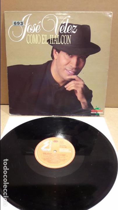 JOSÉ VÉLEZ. COMO EL HALCÓN. LP / MANZANA - 1990 / MBC. ***/*** LEVE USO. (Música - Discos - LP Vinilo - Solistas Españoles de los 70 a la actualidad)
