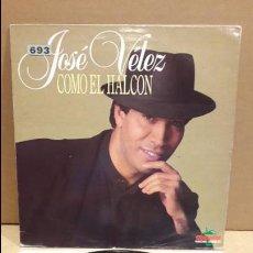 Discos de vinilo: JOSÉ VÉLEZ. COMO EL HALCÓN. LP / MANZANA - 1990 / MBC. ***/*** LEVE USO.. Lote 132493142