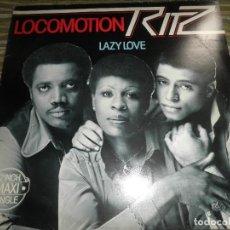 Discos de vinilo: RITZ - LOCOMOTION MAXI 45 R.P.M. - ORIGINAL HOLANDES - CBS RECORDS 1979 -. Lote 86030072