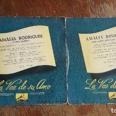Discos de vinilo: AMALIA RODRIGUES. ANTIGAMENTE. UNA CASA PORTUGUESA. . Lote 86032432