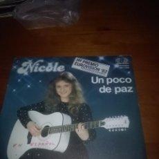 Discos de vinilo: NICOLE. UN POCO DE PAZ. VERSION EN ESPAÑOL. MB2. Lote 86035864