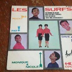 Discos de vinilo: LES SURFS. SU FORMA DE BESAR. . Lote 86064432