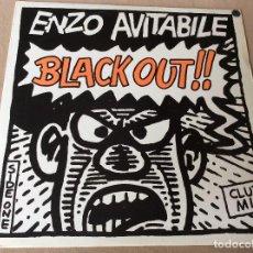 Discos de vinilo: ENZO AVITABILE– BLACK OUT (CLUB MIX). BLANCO Y NEGRO 1987. Lote 86101392