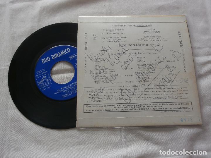 Discos de vinilo: DUO DINAMICO 7 ´EP EL TERCER HOMBRE + 3 TEMAS (1961) COMO NUEVO *FIRMADO Y DEDICADO POR EL GRUPO* - Foto 2 - 86120500