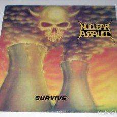 Discos de vinilo: LP NUCLEAR ASSAULT - SURVIVE. Lote 51444032