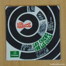 Discos de vinilo: LOS BRAVOS - LOS CHICOS CON LAS CHICAS + 3 - EP. Lote 86128819