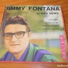 Discos de vinilo: JIMMY FONTANA EN SAN REMO 1961 EP- LADY LUNA/ IO AMO TU AMI/ AAA ADORABILE CERCASI +1. Lote 86128888