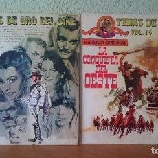 Discos de vinilo: TEMAS DE ORO DEL CINE Y LA CONQUISTA DEL OESTE.VOL.14. Lote 86129180