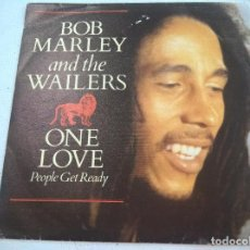 Disques de vinyle: BOB MARLEY. ONE LOVE/ PEOPLE GET READY/ SO MUCH TROUBLE IN THE WORLD. ISLAND, SPAIN 1984 SINGLE. Lote 86137884