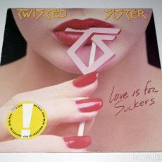 Discos de vinilo: LP TWISTED SISTER - LOVE IS FOR SUCKERS. Lote 42315085