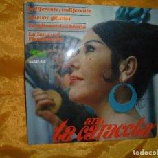 Discos de vinilo: ANA, LA CARACOLA. INDIFERENTE, INDIFERENTE + 3. EP. EKIPO 1966. Lote 86151552