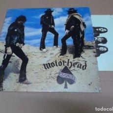 Discos de vinilo: MOTORHEAD (LP) ACE OF SPADES AÑO 1980 – CON HOJAS PROMOCIONALES. Lote 86163084