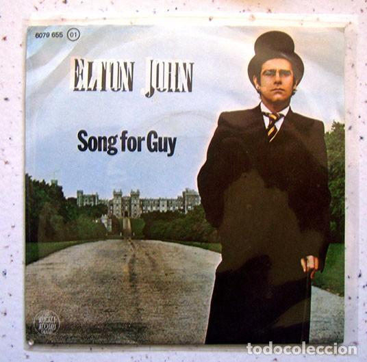 EP. SINGLE . VINILO . ELTON JOHN . SONG FOR GUY . THE ROCKET RECORD COMPANY . 1968 (Música - Discos - Singles Vinilo - Otros estilos)