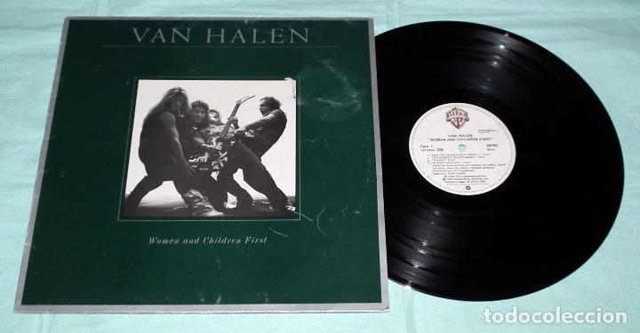 Discos de vinilo: LP VAN HALEN - WOMEN AND CHILDREN FIRST - Foto 3 - 42315343