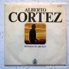 Discos de vinilo: EP. SINGLE .VINILO . ALBERTO CORTEZ , MANOLO . EL ABUELO . HISPA VOX . 1969. Lote 86178084
