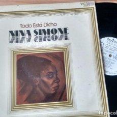 Discos de vinilo: LP( VINILO)-PROMO- DE NINA SIMONE AÑOS 70. Lote 86202808
