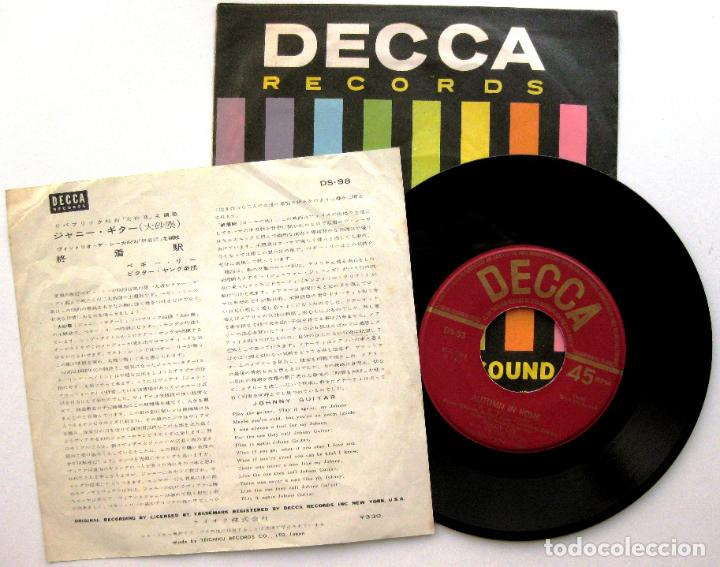 Discos de vinilo: Peggy Lee - Johnny Guitar / Autumn In Rome - Single Decca 1958 Japan (Edición Japonesa) BPY - Foto 2 - 86204240