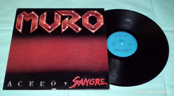 Discos de vinilo: LP MURO - ACERO Y SANGRE - Foto 2 - 86211548