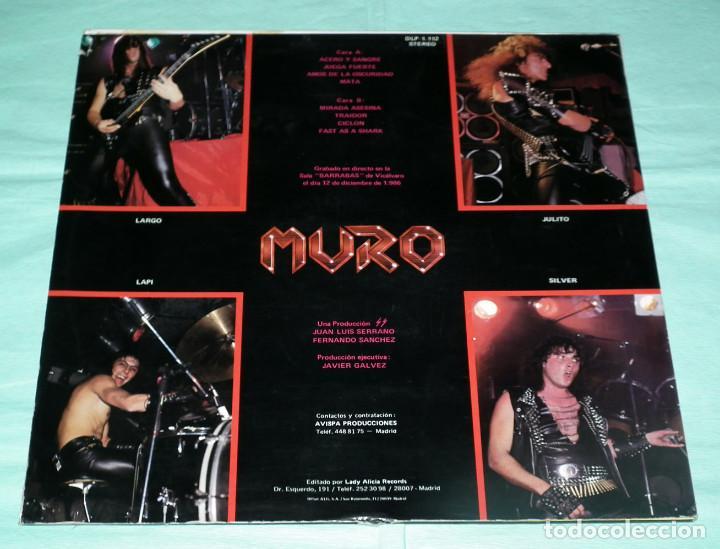 Discos de vinilo: LP MURO - ACERO Y SANGRE - Foto 3 - 86211548