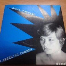 Discos de vinilo: RARISIMO SINGLE GINA MARROSU/AMOR T'AGUALD /LO CARRER DEL CARMEN CATALA DE L'ALGUER . Lote 86219120