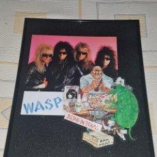 Discos de vinilo: WASP FRAMED PICTURE,FIRMADO BY BLACKIE LAWLESS PRIVATE COLECCIÓN-CD / LP IRON MAIDEN-MOTLEY CRUE . Lote 86219656