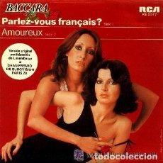 Disques de vinyle: BACCARA - PARLEZ VOUS FRANCAIS? LUXEMBURGO 1978 EUROVISION. Lote 228369225