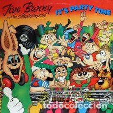 Discos de vinilo: JIVE BUNNY AND THE MASTERIXERS - ITS PARTY TIME (UK LP) 1990 . Lote 86228104
