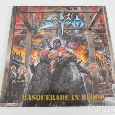 Discos de vinilo: SODOM. LP. MASQUERADE IN BLOOD. STEAM HAMMER 1995. 1ª EDICIÓN. Lote 86236308