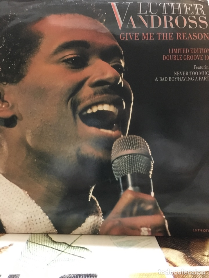 LUTHER VANDROSS-GIVE ME THE REASON-LIMITED EDITION DOUBLE GROOVE 10''-1987-RARO (Música - Discos de Vinilo - EPs - Funk, Soul y Black Music)