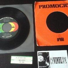 Discos de vinilo: BOB MARLEY & THE WAILERS ?– SE TE PUEDE AMAR = COULD YOU BE LOVED PROMO ?PROVIENE DE SINFONOLA. Lote 86237504
