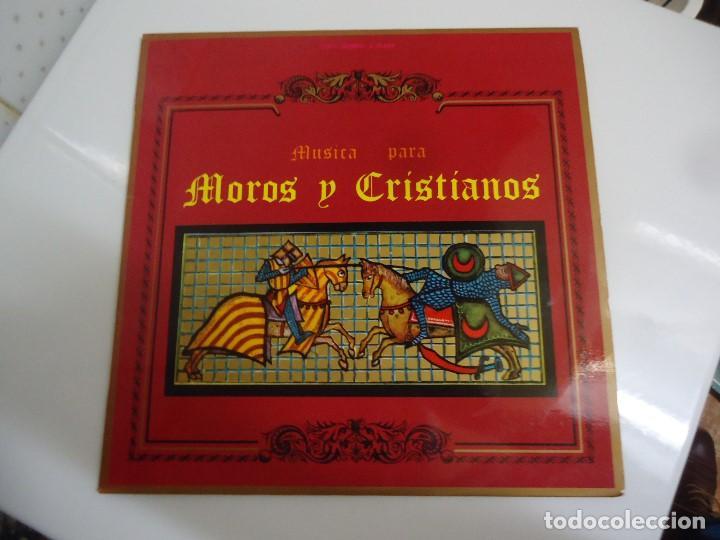 DISCO DE VINILO MUSICA PARA MOROS Y CRISTIANOS UNION ARTISTICA MUSICAL DE ONTENIENTE DR JOSÉ MARIA F (Música - Discos - LP Vinilo - Orquestas)