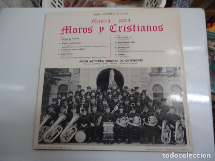 Discos de vinilo: Disco de vinilo musica para moros y cristianos union artistica musical de Onteniente Dr José Maria F - Foto 2 - 86238536