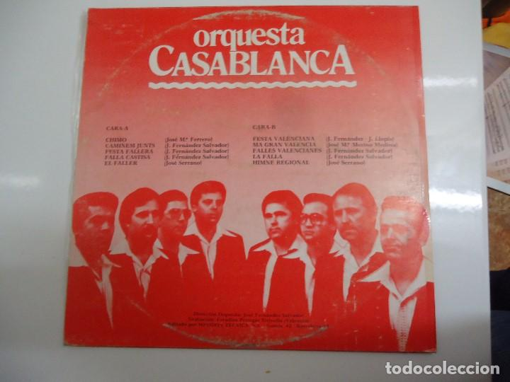 Discos de vinilo: Disco de vinilo orquesta casablanca chimo festa valenciana 1980 - Foto 2 - 86238796