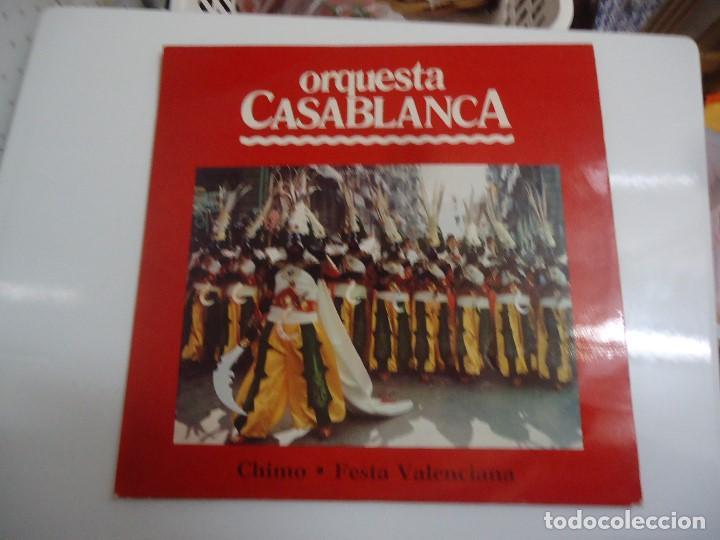 DISCO DE VINILO ORQUESTA CASABLANCA CHIMO FESTA VALENCIANA 1980 (Música - Discos - LP Vinilo - Orquestas)