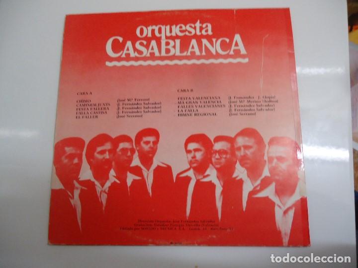 Discos de vinilo: Disco de vinilo orquesta casablanca chimo festa valenciana 1980 - Foto 2 - 86238860