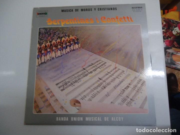 DISCO DE VINILO SERPENTINES I CONFETI MUSICA DE MOROS Y CRISTIANOS BANDA UNION MUSICAL DE ALCOY 1982 (Música - Discos - LP Vinilo - Orquestas)