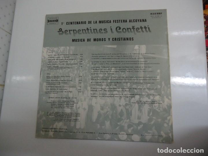 Discos de vinilo: Disco de vinilo serpentines i confeti musica de moros y cristianos banda union musical de Alcoy 1982 - Foto 2 - 86239000