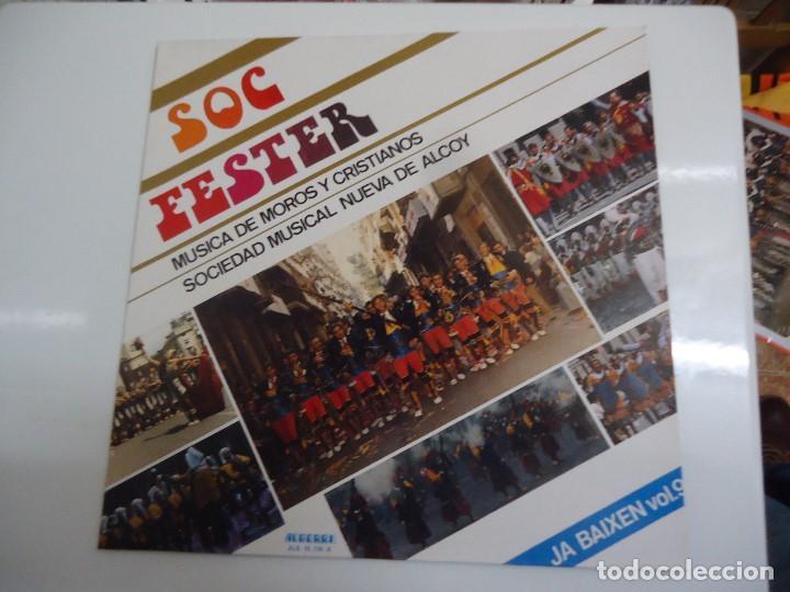 DISCO DE VINILO SOC FESTER MUSICA DE MOROS Y CRISTIANOS SOCIEDAD MUSICAL NUEVA DE ALCOY 1988 (Música - Discos - LP Vinilo - Orquestas)