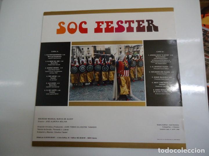 Discos de vinilo: Disco de vinilo soc fester musica de moros y cristianos sociedad musical nueva de Alcoy 1988 - Foto 2 - 86239184