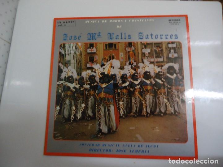 DISCO DE VINILO MUSICA DE MOROS Y CRISTIANOS DE JOSÉ Mª VALLS SATORRES SOCIEDAD MUSICAL NUEVA ALCOY (Música - Discos - LP Vinilo - Orquestas)