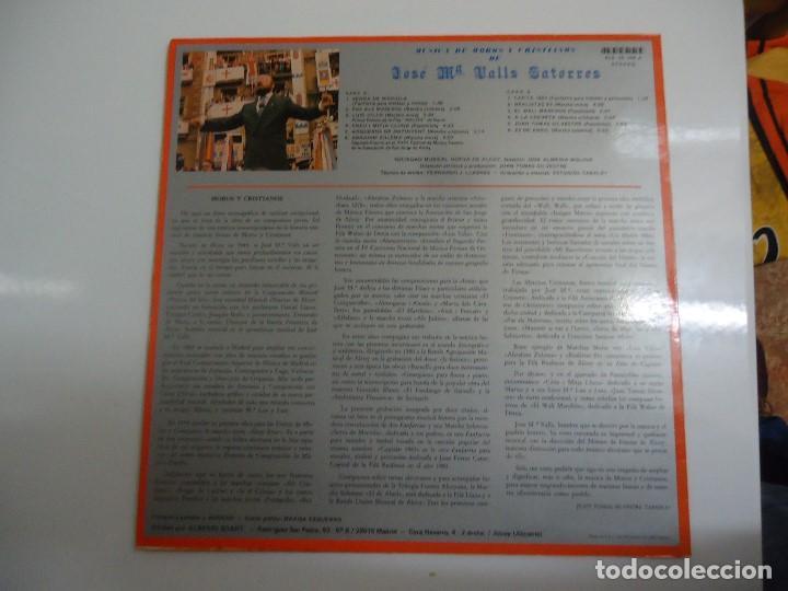 Discos de vinilo: Disco de vinilo musica de moros y cristianos de José Mª Valls Satorres sociedad musical nueva Alcoy - Foto 2 - 86239312